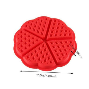 Diniwell Non-stick Silicone Waffle Mold Kitchen Bakeware Cake Mould Makers For Oven High-temperature Baking Set