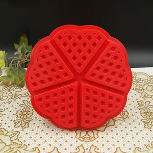 Round Heart Shape Waffle Biscuit Mold Silicone Cake Mould Kitchen Baking Tool Hot