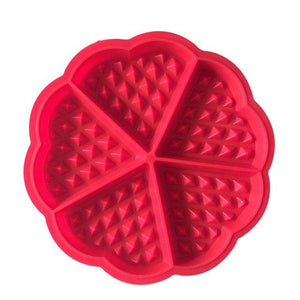 Flower Rectangle Silicone Waffle Mold Pan Microwave Baking Cookie Cake Muffin Bakeware Cooking Tool Kitchen Accessories Supplies