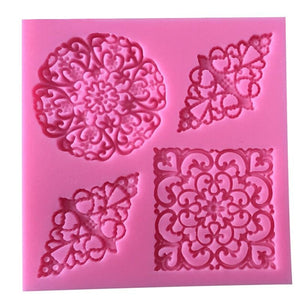 Hot Sale Sugarcraft Lace Flower Shape 3D Silicone Fondant Mould Cake Decorating Tools Cupcake