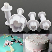 Load image into Gallery viewer, 4pcs/set Flower Icing Piping Nozzles Sugarcraft Cupcake Cake Decorating Tools Plunger Mold Syringe Tips Pastry Pen Fondant Molds