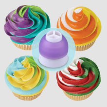 Load image into Gallery viewer, Icing Piping Bag Nozzle Converter Tri-color Cream Coupler Cake Decorating Tools For Cupcake Fondant Cookie 3 Hole 3 Color