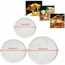 "Load image into Gallery viewer, WHISM 6-14"" Aluminum Pizza Tray Mesh Round Pizza Pancake Net Baking Pan Pizza Net Baking Accessories Screen Pastry Baking Tools"