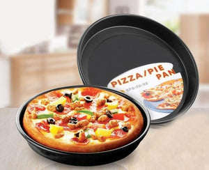 1PC 2016 7 Sizes Thicking Pizza plate baking tools pizza tray Home baking oven microwave oven use Non-Stick pizza pan Dish J0503