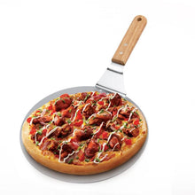 Load image into Gallery viewer, Stainless Steel Anti-scald Pizza Spatula Oak Handle Cake Shovel Pizza Peel Tray Pan Home Kitchen Baking Pastry Tools Cutter