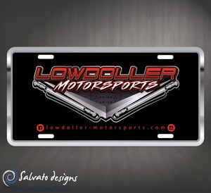Lowdoller Motorsports stamped license plate