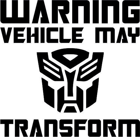 Warning Transformers Autobot 12cmx12cm