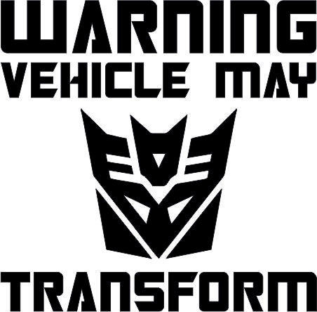 Warning Transformers Decepticon 12cmx12cm