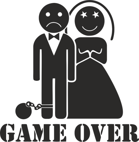 Game Over 12cmx12cm