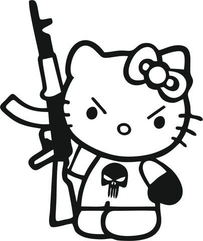 Hello Kitty Terrorist 10cmx12cm