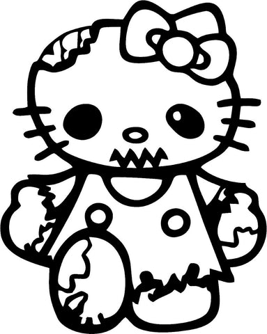 Hello Kitty Zombie ver.1 10cmx12,5cm