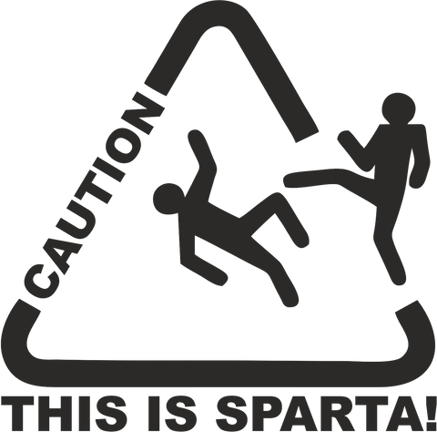 This Is Sparta 12cmx12cm