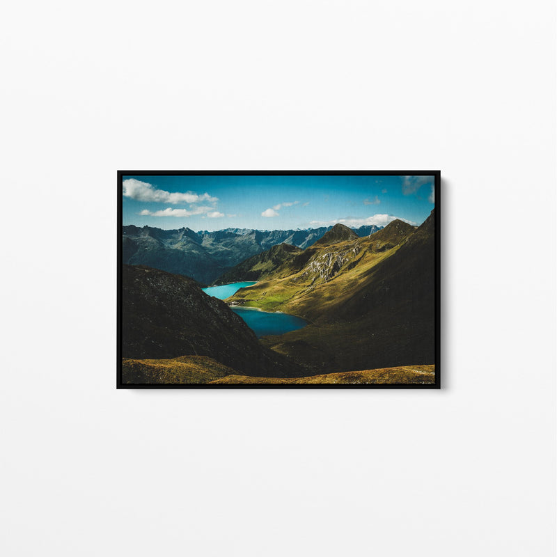 Switzerland Summer Landscape Photo Stretched Canvas Wall Art