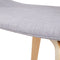 2 x Timber Wood and Fabric Dining Chairs - Light Grey
