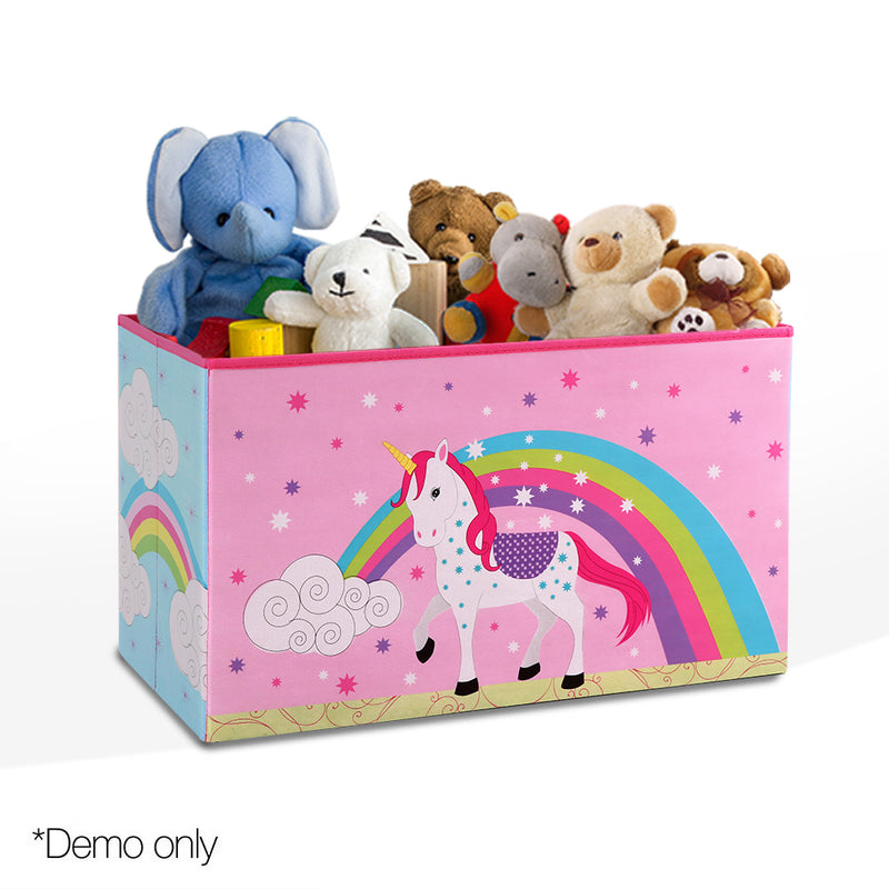 Kids Storage Toy Box - Pink / Unicorn