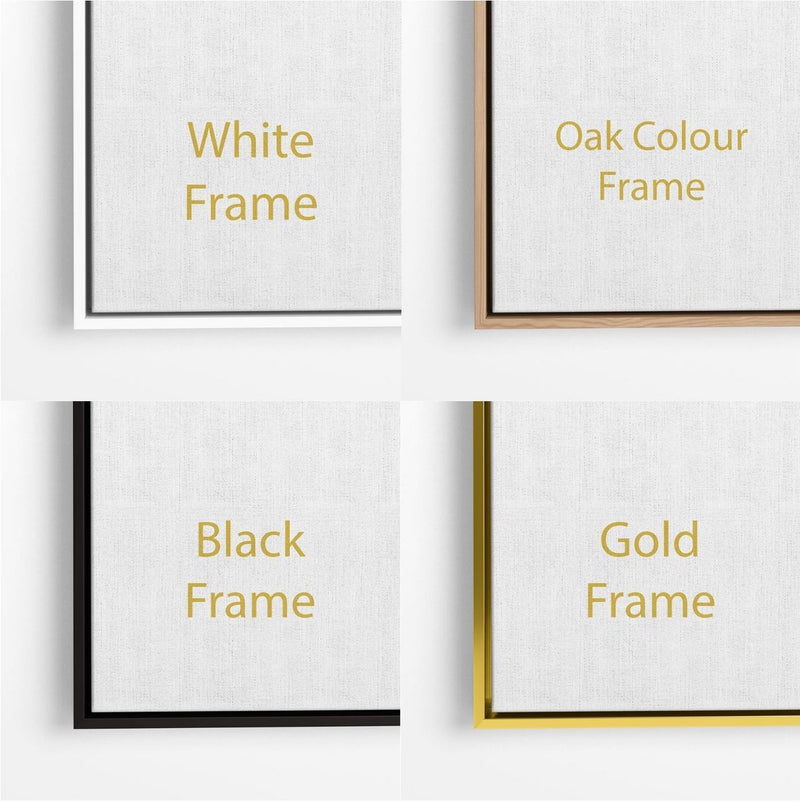 Cheap floating frames black white gold wood
