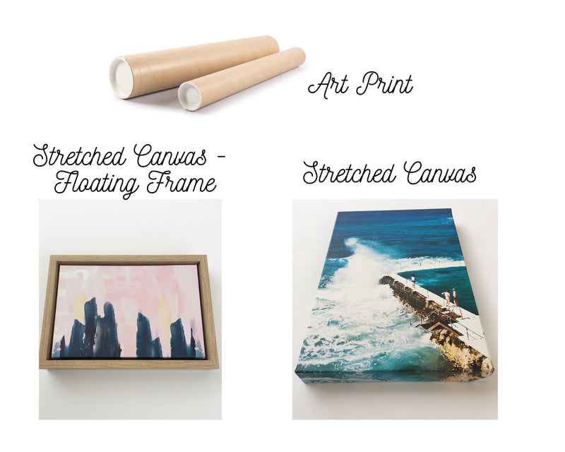 The Bahamas - Three Piece Green Tropical Photo Art Print Set Wall Art