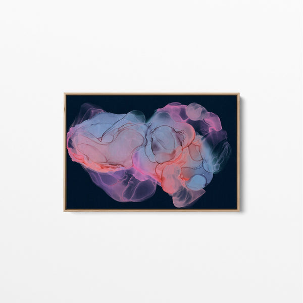 In The Navy Alcohol Ink Abstract Wall Art Canvas Print