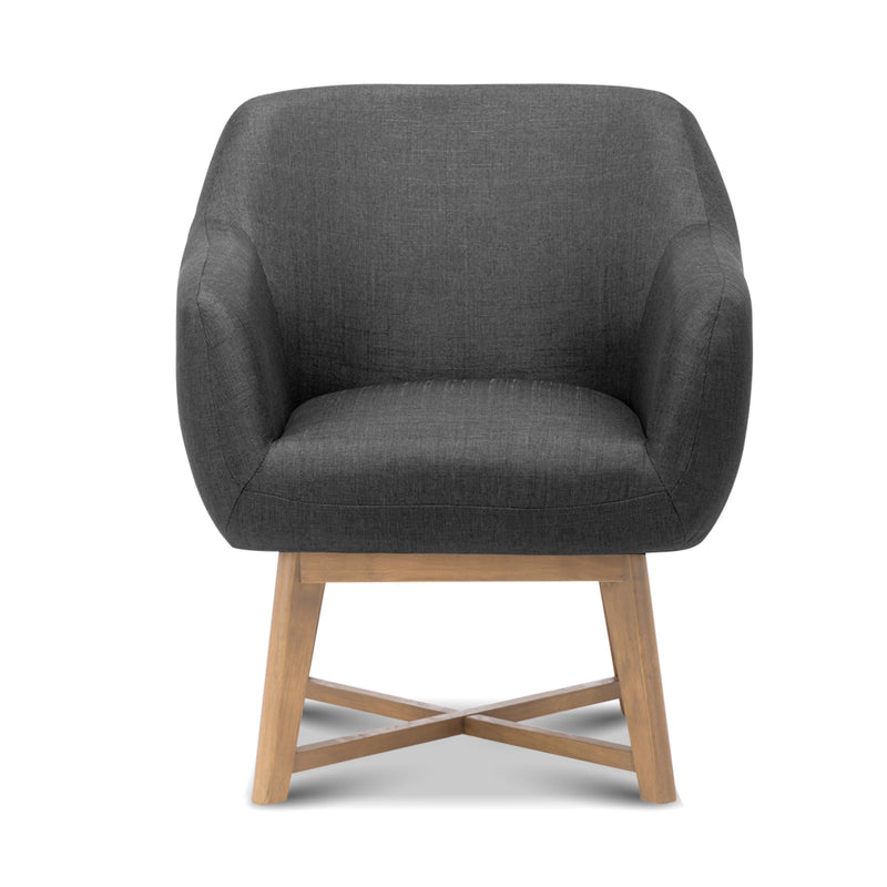 Aston Tub Accent Chair Charcoal