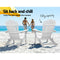 Foldable Adirondack Beach Chair - White