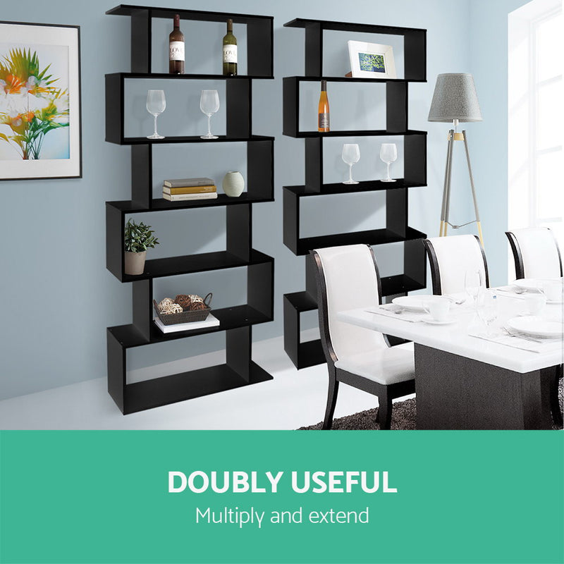 6 Tier Display Shelf - Black