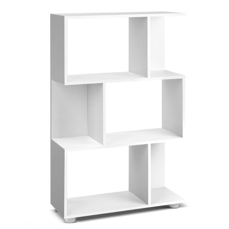 Artiss 3 Tier Zig Zag Bookshelf - White