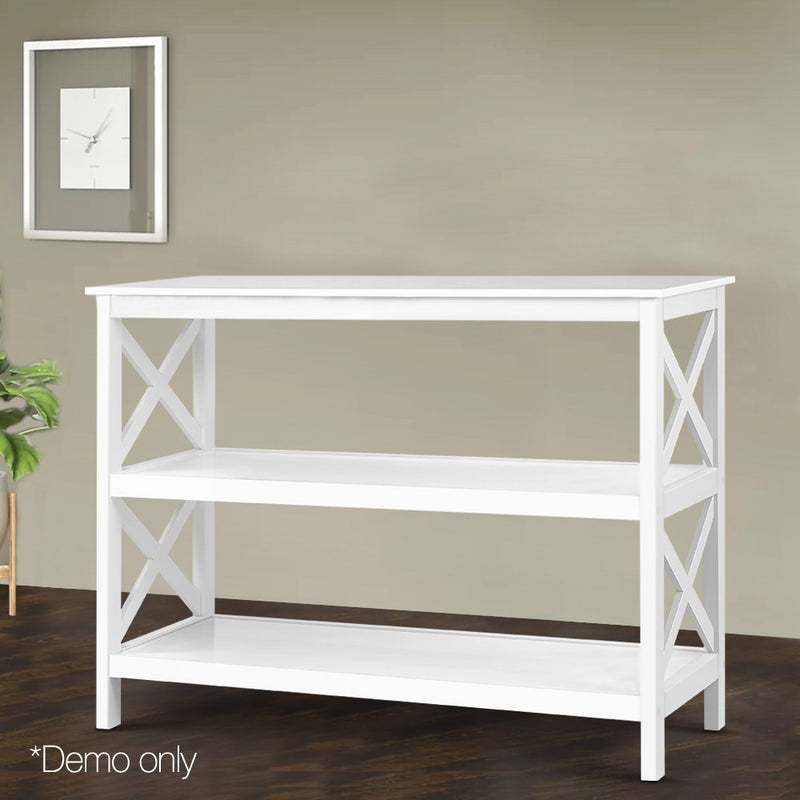 Wooden Storage - Console Table - White