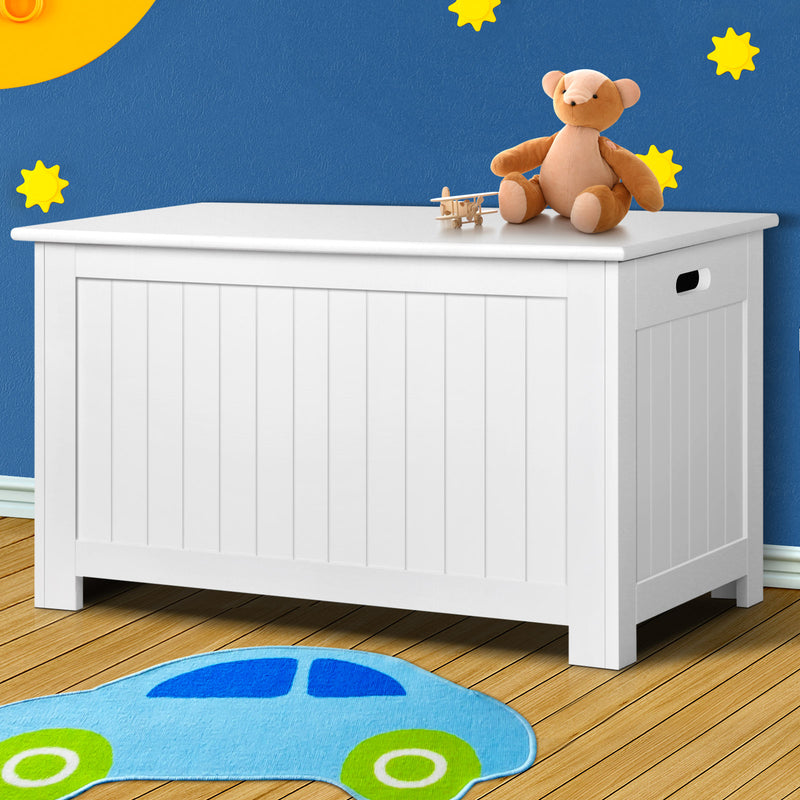 Kid's Toy Cabinet Chest - White