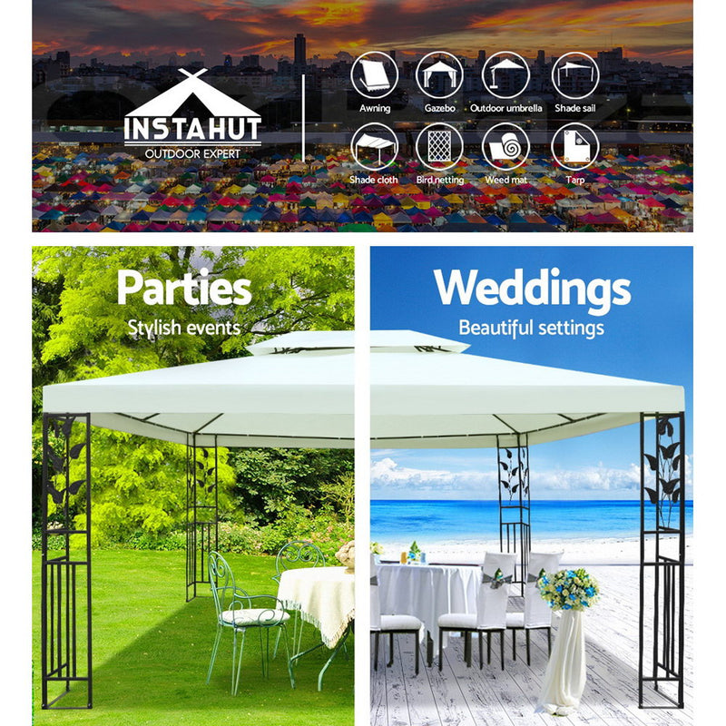 4 x 3m Gazebo Party Wedding Event Marquee Tent Shade Iron Art Canopy