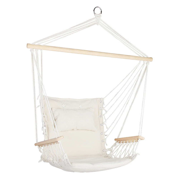 Gardeon Hammock Hanging Swing Chair - Cream