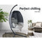 Outdoor Furniture Egg Hammock - Hanging Swing Pod - Grey