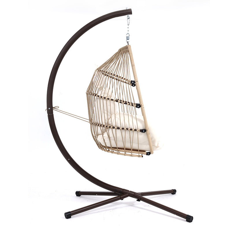 Outdoor Furniture Egg Hammock - Hanging Swing Chair - Ratton