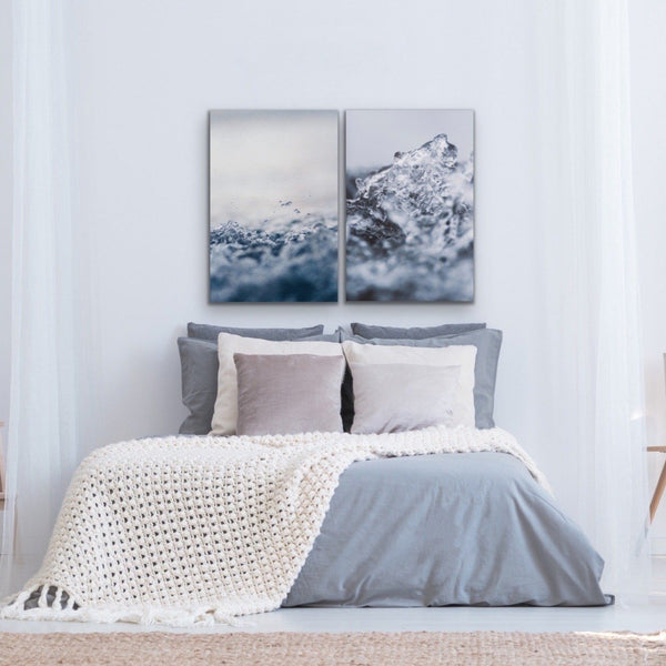 Two piece ocean wall art print