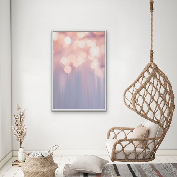 Light Show -Pastel Abstract Stretched Canvas Wall Art
