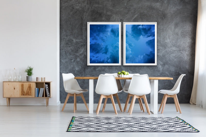 Look Up - Blue Clouds Sky Stretched Canvas Art Prints