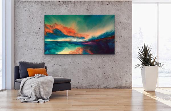 Wild Skies - Abstract Surreal Art Print Stretched Canvas Wall Art
