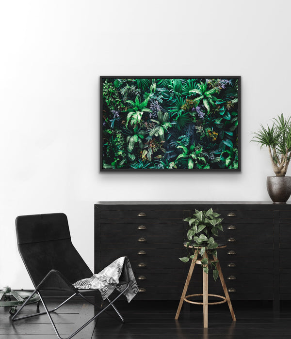 Green wall stretched canvas wall art print