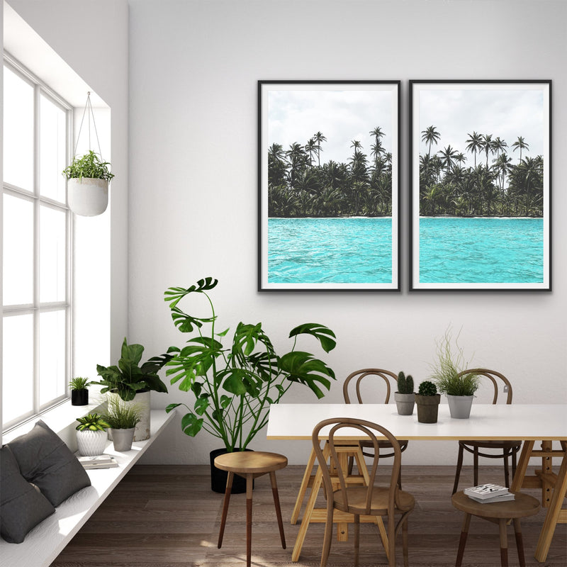 Tropical two piece photographic wall art print
