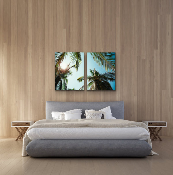 Swaying Palms - Beach Palm Summer Boho Framed Print Wall Art