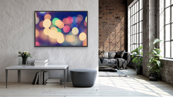 Bokeh city light abstract wall art
