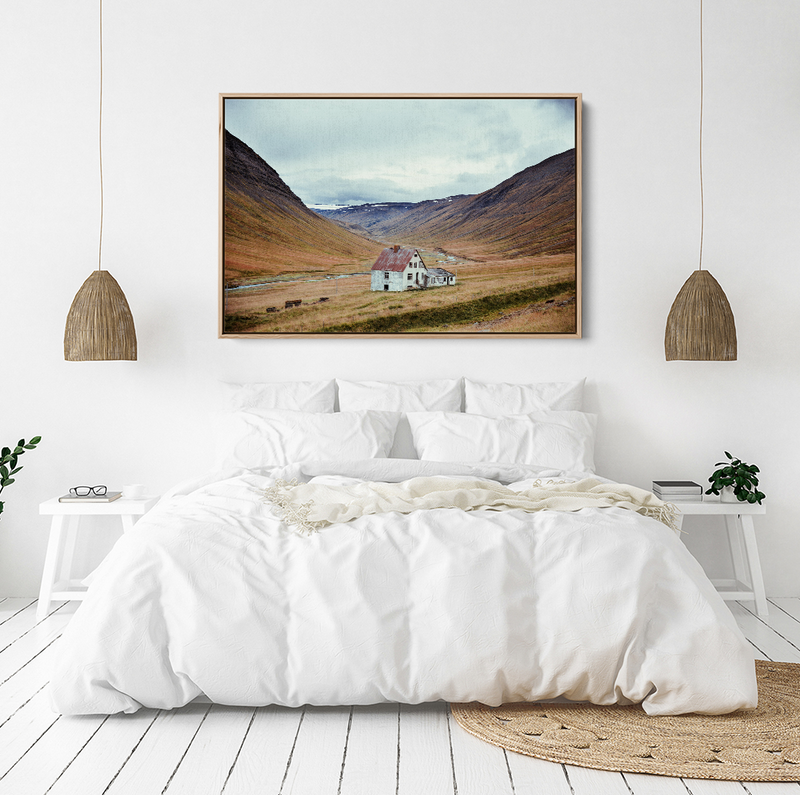 Iceland landscape stretched canvas wall art