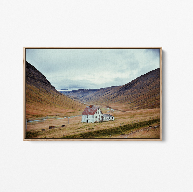 Iceland - Landscape Photographic Art Print Stretched Canvas Wall Art