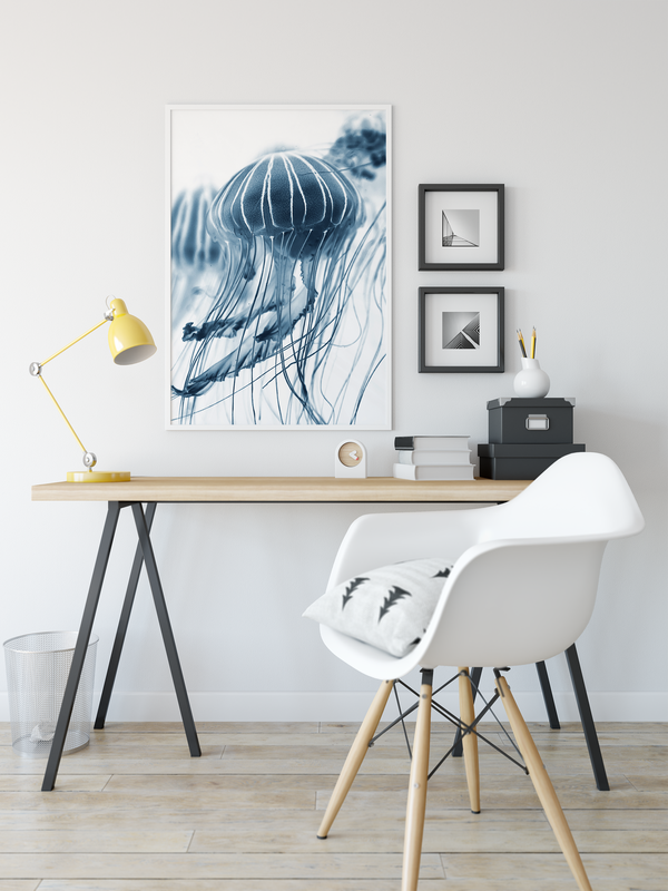 Bluebottle- Stretched Canvas Wall Art Print Bluebottle jellyfish
