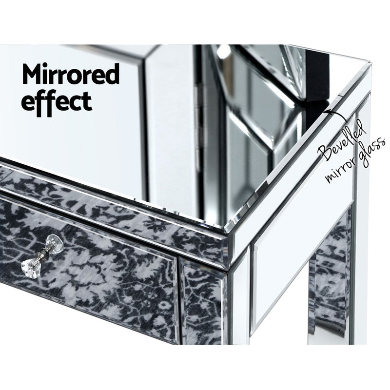 Mirrored Dressing Console Sideboard Drawers