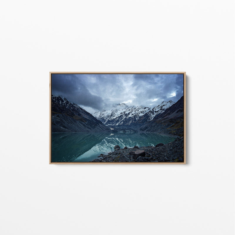 New Zealand Lake - Landscape Canvas Wall Art Stretched Print