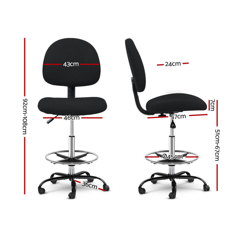 Classic Fabric Office Chair - Black