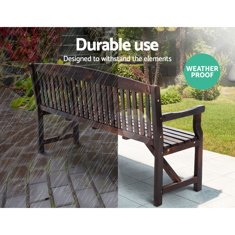 3 Seater - Wooden Garden Bench - Wood Outdoor Furniture