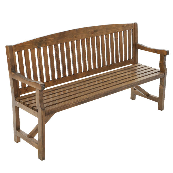 Gardeon Wooden Garden Bench Chair Natural Outdoor Furniture DÌ©cor Patio Deck 3 Seater