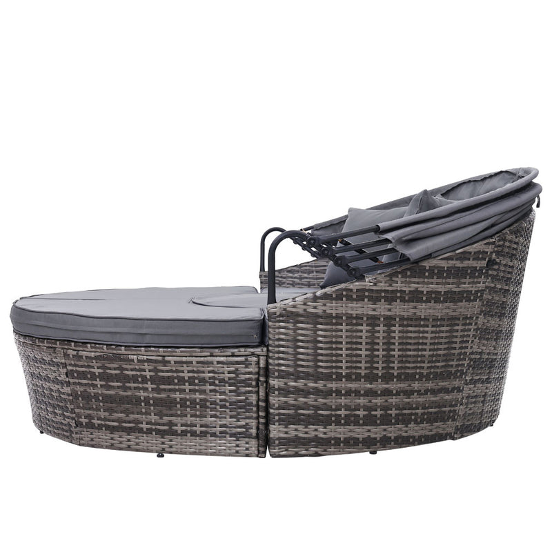 Outdoor Patio Lounge Day Bed - Grey