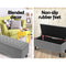 Storage Ottoman Fabric Chest Foot Stool - Grey